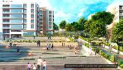 Render Edificio de Apartamentos y personas, proyecto Tres Quebradas